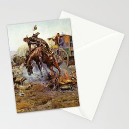 C.M. Russell Cook's Troubles Vintage Western Art Stationery Cards