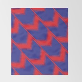 Red and blue diagonal pattern Throw Blanket