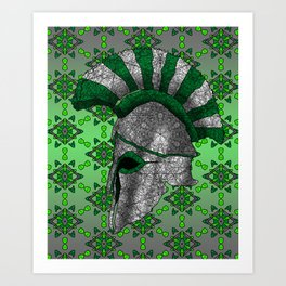 Spartan Helmet Art Print