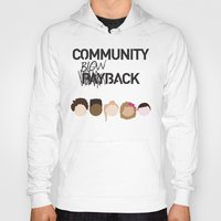 community Hoodies featuring Community Blowback by The Kid