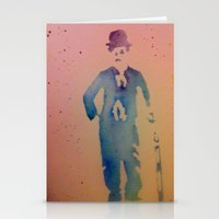 chaplin Stationery Cards featuring Chaplin by Anaasofiac