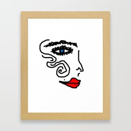 No Name Girl | I am Framed Art Print