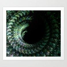Emerald Spiral Art Print