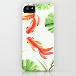 Gold fishes painting iPhone Case