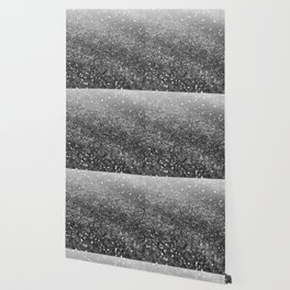Silver Gray Black Glitter #2 (Faux Glitter - Photography) #shiny #decor #art #society6 Wallpaper