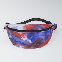 Collision in Red and Blue Fanny Pack