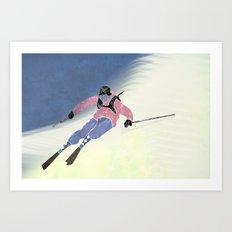 Downhill skiing Art Print
