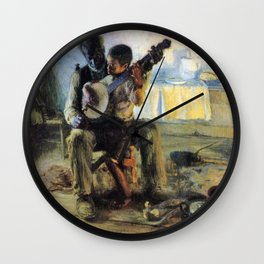 African American Masterpiece 'The Banjo Lesson' by Henry Ossawa Tanner Wall Clock