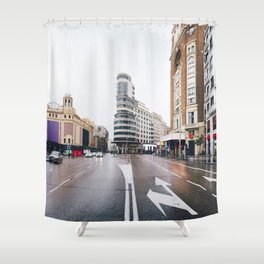 Madrid - Gran Via Shower Curtain