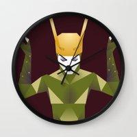 loki Wall Clocks featuring Loki by neonico