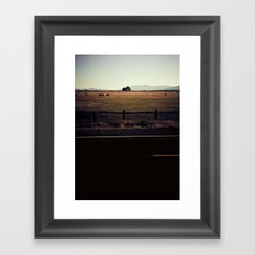 BACK AND SPINE. Framed Art Print