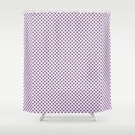 Dewberry Polka Dots Shower Curtain
