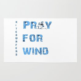Kiteboarding Humor Kneeling Skeleton Praying For Wind Rug