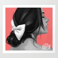 pocahontas Art Prints featuring Pocahontas by kevinci