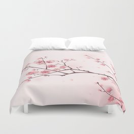 Oriental cheery blossom in spring 006 Duvet Cover
