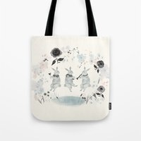 band Tote Bags featuring Woodland Band by Danse de Lune