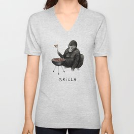 Grilla Unisex V-Neck
