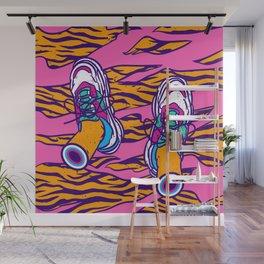 Pop sneakers Wall Mural