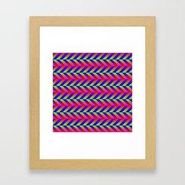 Zig Zag Folding Framed Art Print
