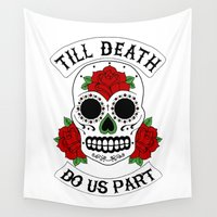 death Wall Tapestries featuring Death by TAM ♡