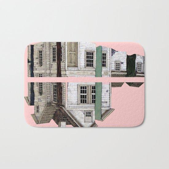 pink house Bath Mat