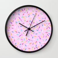 donut Wall Clocks featuring Donut  by Alexandra Aguilar