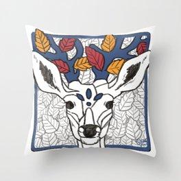 Autumn Deer Throw Pillow