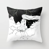 storm Throw Pillows featuring Storm by  Louie