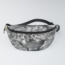 Duckie Portrait - Black & White Fanny Pack