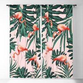 Summer Flamingo Jungle Vibes #1 #tropical #decor #art #society6 Blackout Curtain