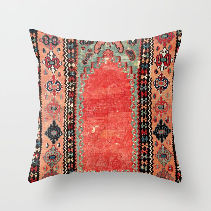 Sivas  Antique Cappadocian Turkish Niche Kilim Print Deko-Kissen