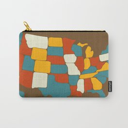 Map of Most of the United States of America (USA) Carry-All Pouch