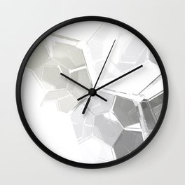 White Fractal Wall Clock