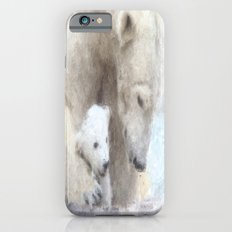 Polar Baer with Baby iPhone 6s Slim Case