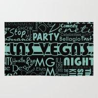las vegas Area & Throw Rugs featuring Las Vegas by Chelsea Dianne Lott