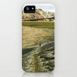 Running In Icelandic Mountains iPhone Case