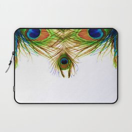 GORGEOUS BLUE-GREEN PEACOCK FEATHERS ART Laptop Sleeve