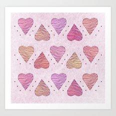 Hearts, love Art Print