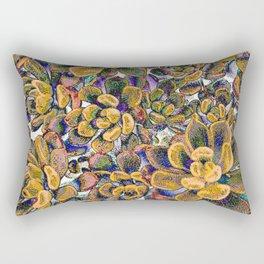 Floral tribute [honey] Rectangular Pillow