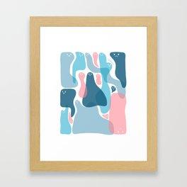 Blue sweeties Framed Art Print