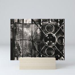 Circles ands Bars Mini Art Print