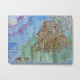 House and lights Metal Print