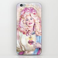 dolly parton iPhone & iPod Skins featuring Saint Dolly Parton  by DirtyLola