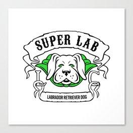 Super Labrador Retriever Dog Wearing Green Cape Canvas Print