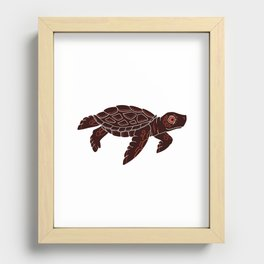 Sea Turtle Recessed Framed Print