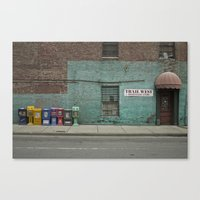 newspaper Canvas Prints featuring Newspaper? by Faka