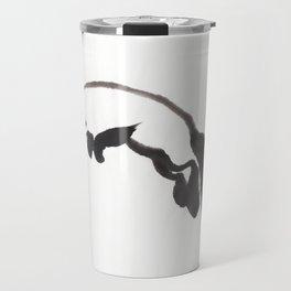 Fox hunting Mouse Sumi-e Travel Mug