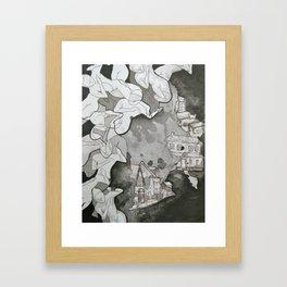 A Bad Place  Framed Art Print