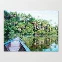 A Boat in the Amazon Rainforest Fine Art Print by sidecarphoto