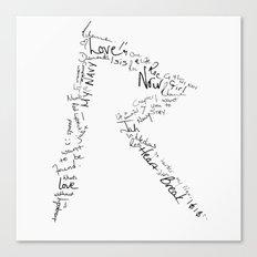 Rihanna 's R Canvas Print